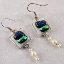 Bedazzled Glass Earrings