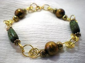 Coiled Connections Bead Bracelet