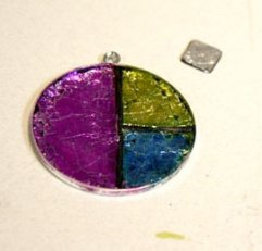 Faux Dichroic Glass Pendant - Step 5