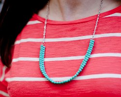 Easy Turquoise Bead Necklace