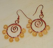 Sunshine Spiral Beaded Earrings